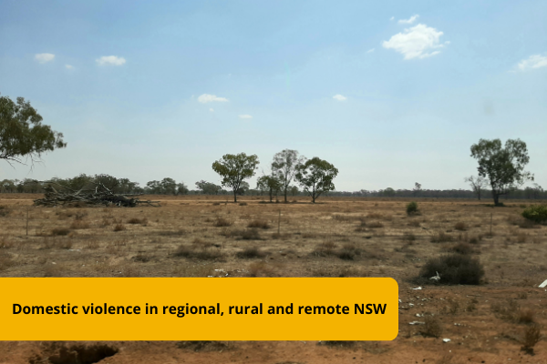 'No-one will hear me scream': domestic violence in regional, rural and remote communities